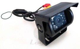 Kamera cofania CAM9 TIR BUS 12V 24V 140 stopni, solidna mocna obudowa 18 diod IR