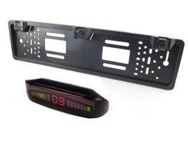 Regulowane czujniki parkowania w ramce tablicy rejestracyjnej CP75 LED + buzzer + wyświetlacz LED