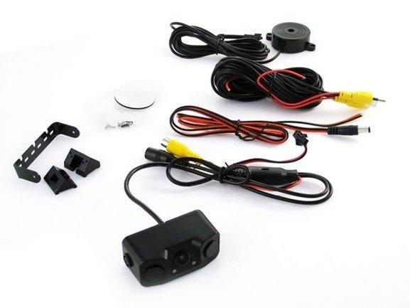 Czujniki parkowania x2 + buzzer + kamera cofania z diodami LED - widzi w nocy