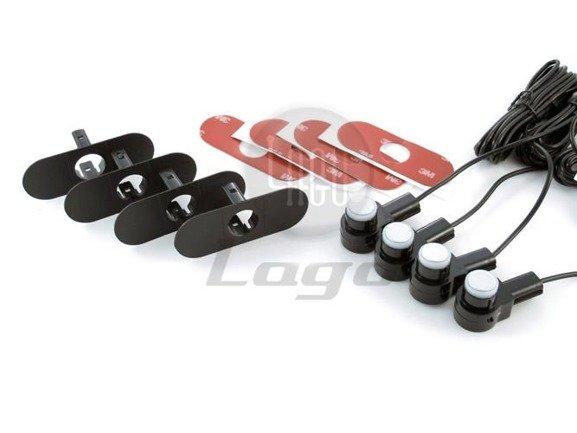 Czujniki cofania montowane jak seryjne, 4 sensory 16,5mm ze złączami serwisowymi + BUZZER CP10N4W