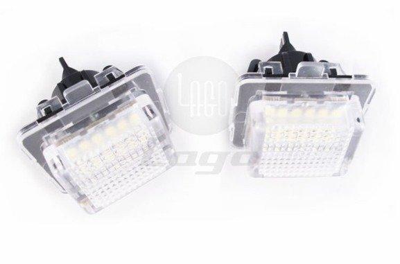 Lampki LED podświetlenia tablicy rejestracyjnej MERCEDES C Klasa W204 E Klasa W212 C207 S klasa W221