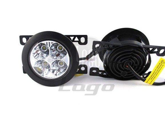 Okrągłe światła do jazdy dziennej Einparts DRL 410 70mm średnicy, uniwersalne do montażu w miejscu halogenów, dedykowane