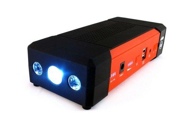 Starter akumulatorowy z funkcją power banku, mocny 16 000 mAh + walizka JS407